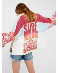 Free People | Multicolor Surf Sweater Kimono | Lyst
