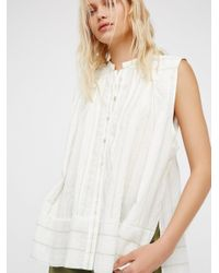 Free People | White Swinging On By Buttondown | Lyst