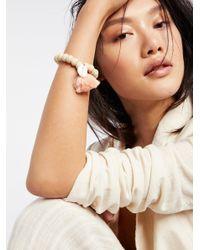Free People - Multicolor Tasseled Wooden Shell Bracelet - Lyst