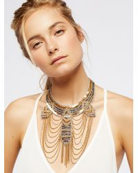 Free People - Metallic The Motto Metal Collar - Lyst