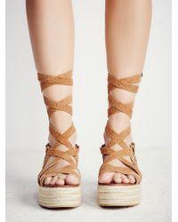 Free People Multicolor Vegan Milly Platform Sandal