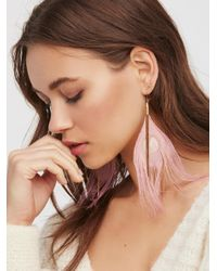 Free People - Pink Vintage Chain Peacock Dusters - Lyst