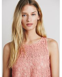 Free People | Pink Spring Date Dress | Lyst