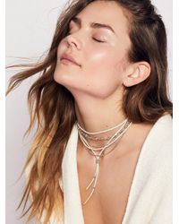 Free People | White Wanted & Wild Leather Bolo | Lyst