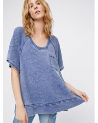 Free People | Blue We The Free Fairmont Tee | Lyst