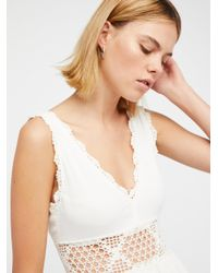 Free People White Moon Diamond Maxi Dress