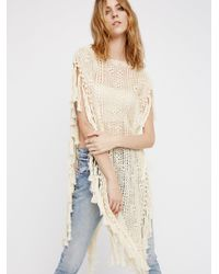 Free People Natural Without Borders Crochet Kaftan