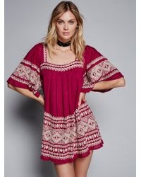 Free People Blue Yuma Dress