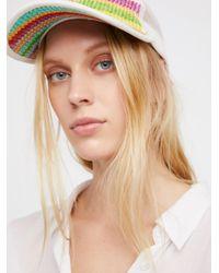 Free People - Multicolor Ziggy Straw Baseball Hat - Lyst