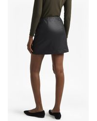 French Connection - Black Filomena Faux Leather Mini Skirt - Lyst