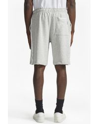French Connection Gray Rubber Stripe Tipping Shorts for men