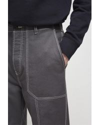 French Connection - Blue Pigment Garment Dye Mix Trousers for Men - Lyst