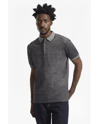 French Connection | Black Winter Jumbo Pique Polo Shirt for Men | Lyst
