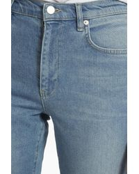 French Connection Blue Ash Denim Cropped Kick Flare Jeans