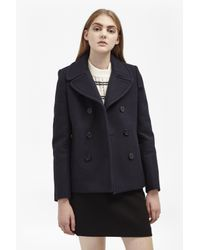 French Connection | Blue Sailor Wool Double Breast Coat | Lyst