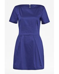 French Connection | Blue Plain Richie Structured Dress | Lyst