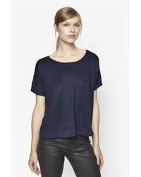 French Connection - Blue Plain French Top - Lyst