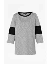 French Connection | Gray Tudy Panelled Top | Lyst