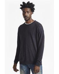 French Connection - Blue Arambol Slub Knit Linen Blend Jumper for Men - Lyst