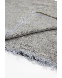 French Connection - Gray Double Faced Metallic Scarf - Lyst