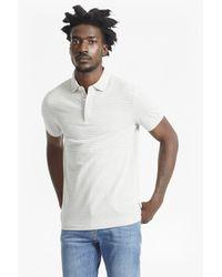 French Connection Gray Menon Block Stripe Polo Shirt for men