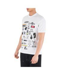 T-shirt maglia maniche corte girocollo uomo di McQ Alexander McQueen in White da Uomo