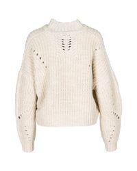 Maglione maglia donna girocollo di Isabel Marant in Natural