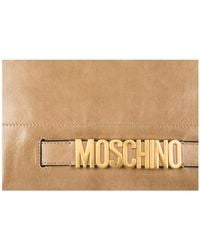 Boutique Moschino - Natural Handbag Shopping Bag Purse In In Pelle - Lyst