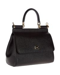Dolce & Gabbana Black Sicily Bag
