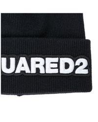 Cuffia berretto uomo in lana di DSquared² in Black da Uomo