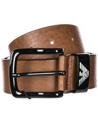 Emporio Armani Brown Genuine Leather Belt for men