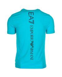 EA7 - Blue Back Logo T-shirt for Men - Lyst