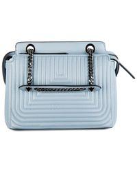 Fendi - Blue Leather Shoulder Bag Dotcom Click - Lyst