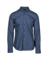 Versace Jeans Blue Long Sleeve Shirt Dress Shirt for men