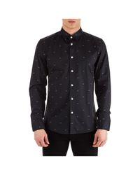 Camicia uomo maniche lunghe urban slim fit di KENZO in Black da Uomo
