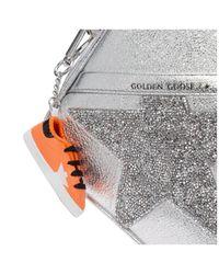 Borsa donna a tracolla pelle borsello star di Golden Goose Deluxe Brand in Multicolor