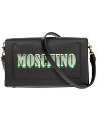 Borsa donna a spalla shopping dollar teddy bear di Moschino in Black