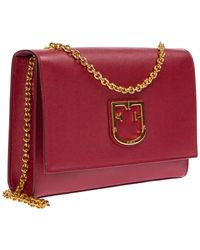 Borsa donna a tracolla pelle borsello viva di Furla in Red
