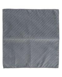 Emporio Armani Gray Pocket Square
