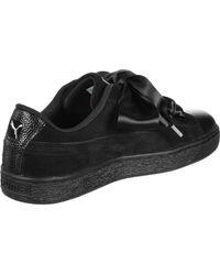 PUMA Black Sneaker SUEDE HEART BUBBLE W'S