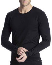 Calida Langarm-Shirt Cotton Code in Black für Herren