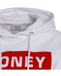 """ONLY White Hoodie """"Hilde"""""""