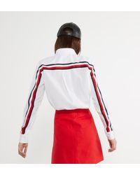 Chemise droite Stripe Iconique coton Tommy Hilfiger en coloris White