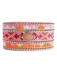 Bracelet JUDY-TWIN Hipanema en coloris Pink