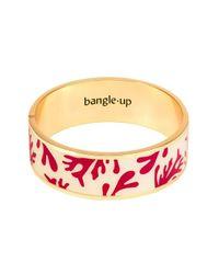Bracelet en laiton doré et émaillé avec fermoir Bangle Up en coloris Red