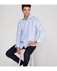 Chemise droite en coton fil à fil Arrow pour homme en coloris Blue