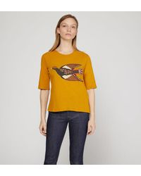 T-shirt Color Bird cintré coton Nice Things en coloris Multicolor