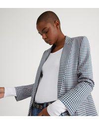 Veste blazer carreaux slim coton Sandro en coloris Blue
