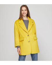 Manteau Pamilia mi long ample jaune American Vintage en coloris Yellow