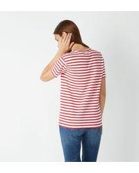 T-shirt Brutus droit rayé Maison Scotch en coloris Red
